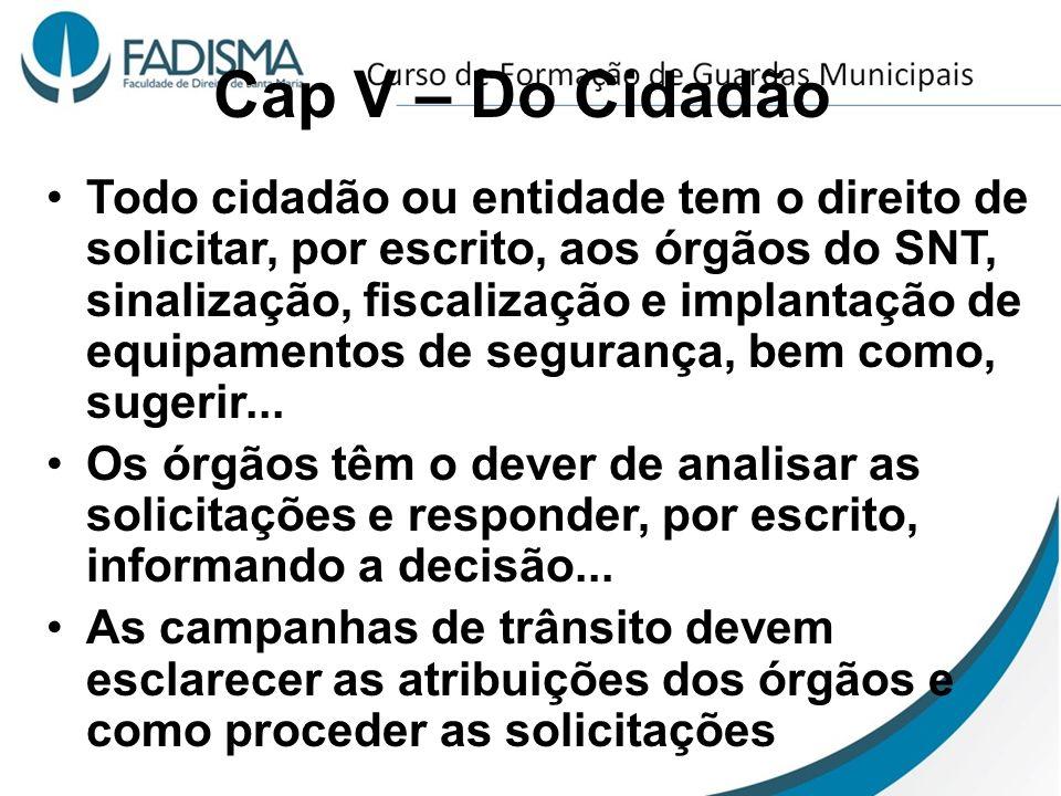 Cap V – Do Cidadão