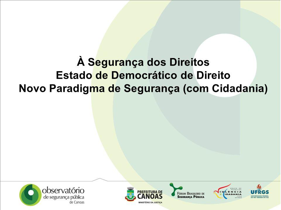 À Segurança dos Direitos Estado de Democrático de Direito