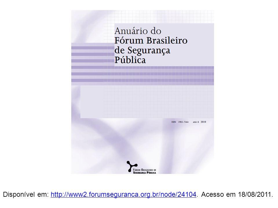 Disponível em: http://www2. forumseguranca. org. br/node/24104