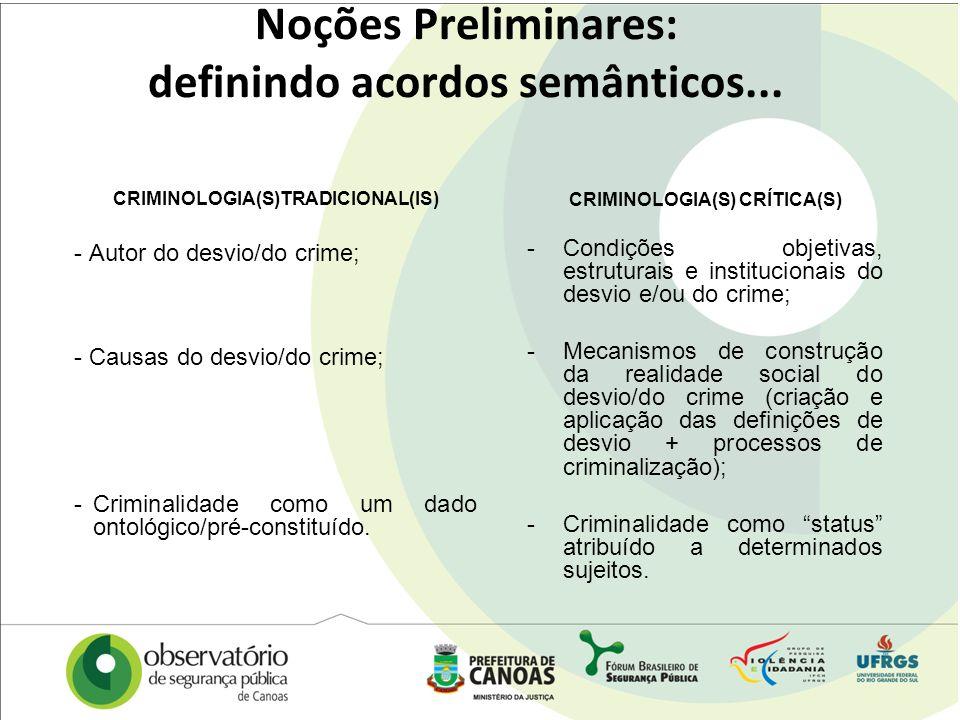Noções Preliminares: definindo acordos semânticos...