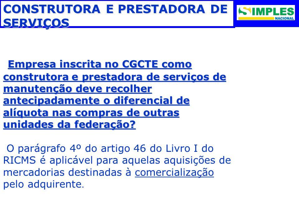 CONSTRUTORA E PRESTADORA DE SERVIÇOS