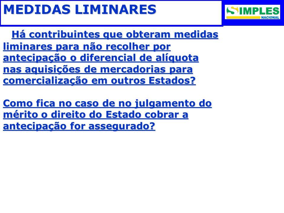 MEDIDAS LIMINARES