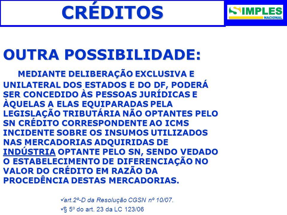 CRÉDITOS OUTRA POSSIBILIDADE: