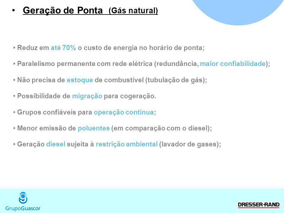 Geração de Ponta (Gás natural)