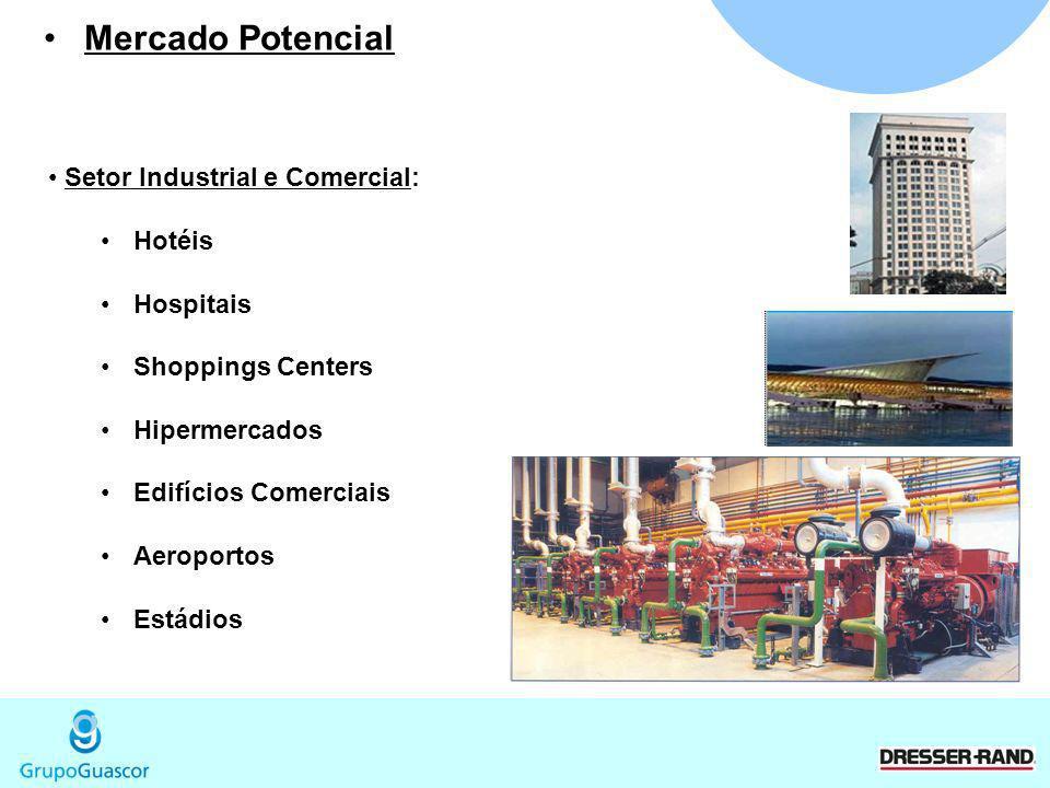 Mercado Potencial Setor Industrial e Comercial: Hotéis Hospitais
