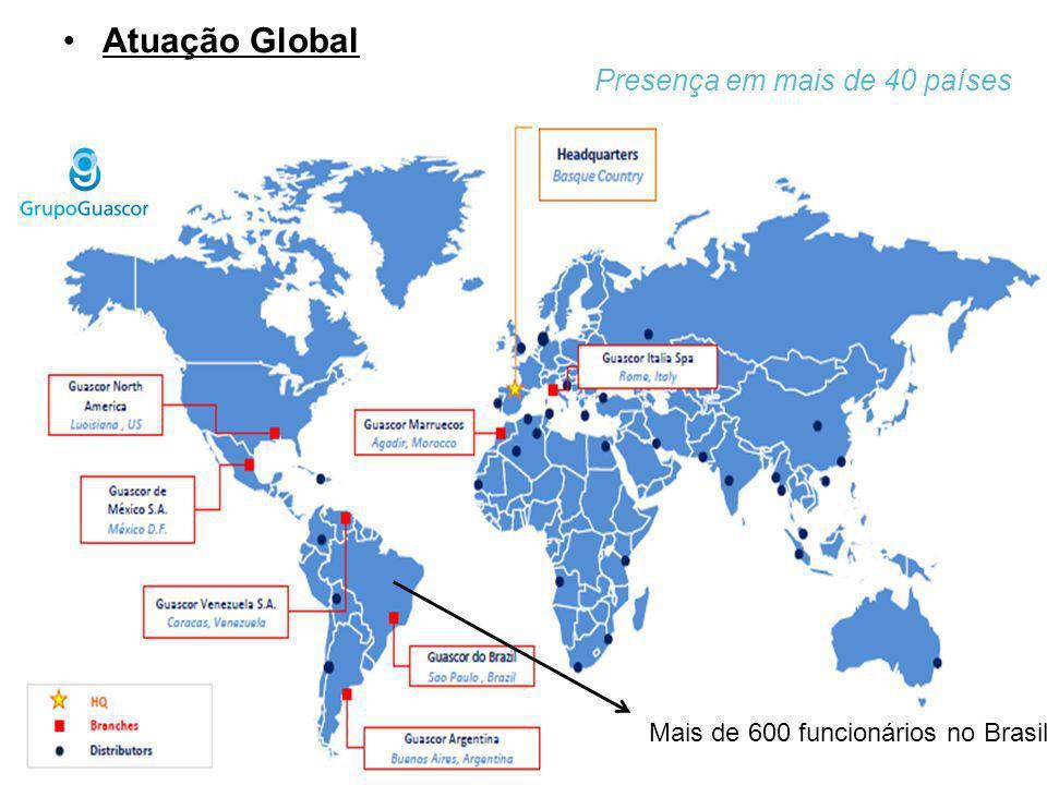 Atuação Global Presença em mais de 40 países