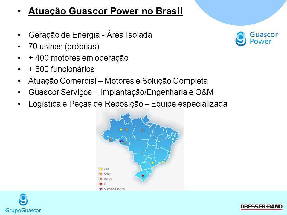 Atuação Guascor Power no Brasil