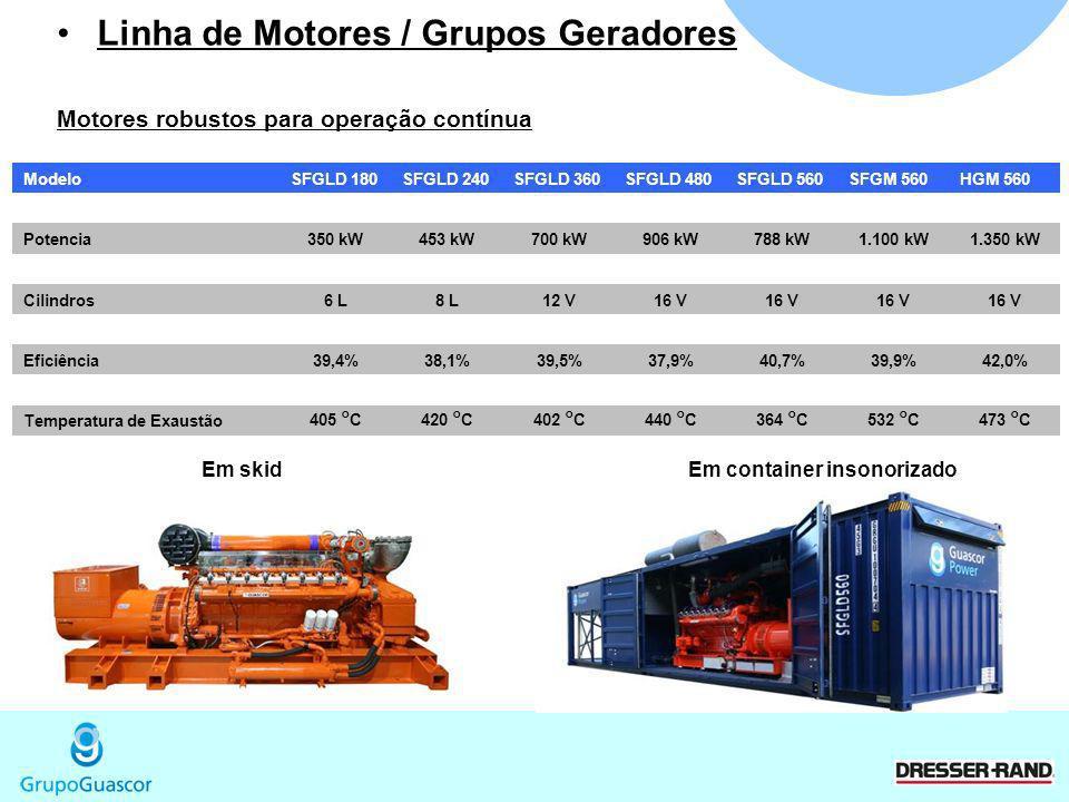 Linha de Motores / Grupos Geradores