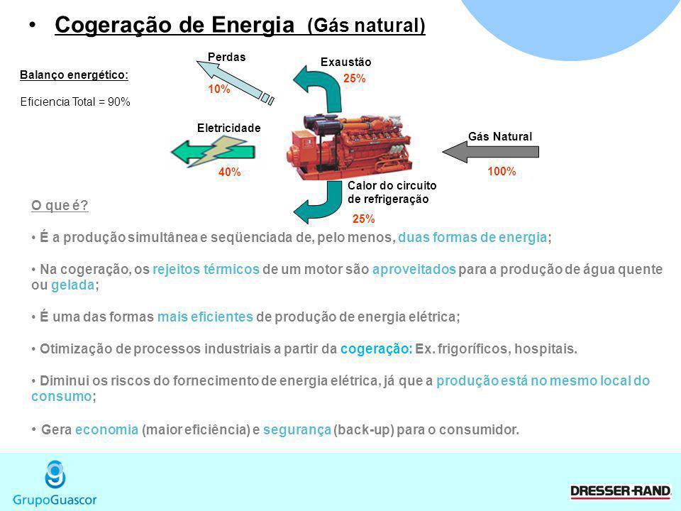 Cogeração de Energia (Gás natural)
