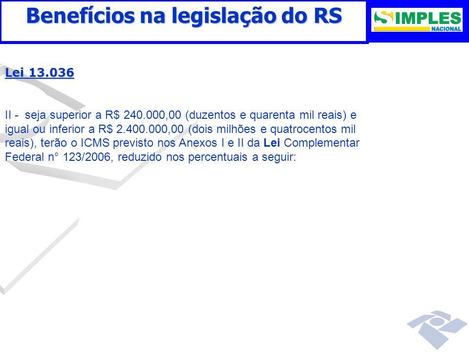 Benefícios na legislação do RS