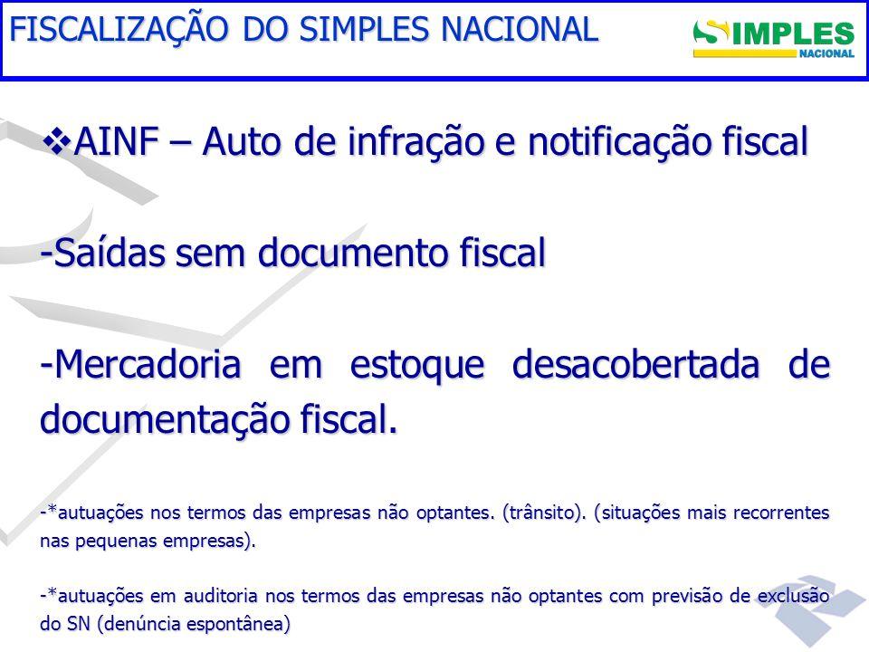 AINF – Auto de infração e notificação fiscal