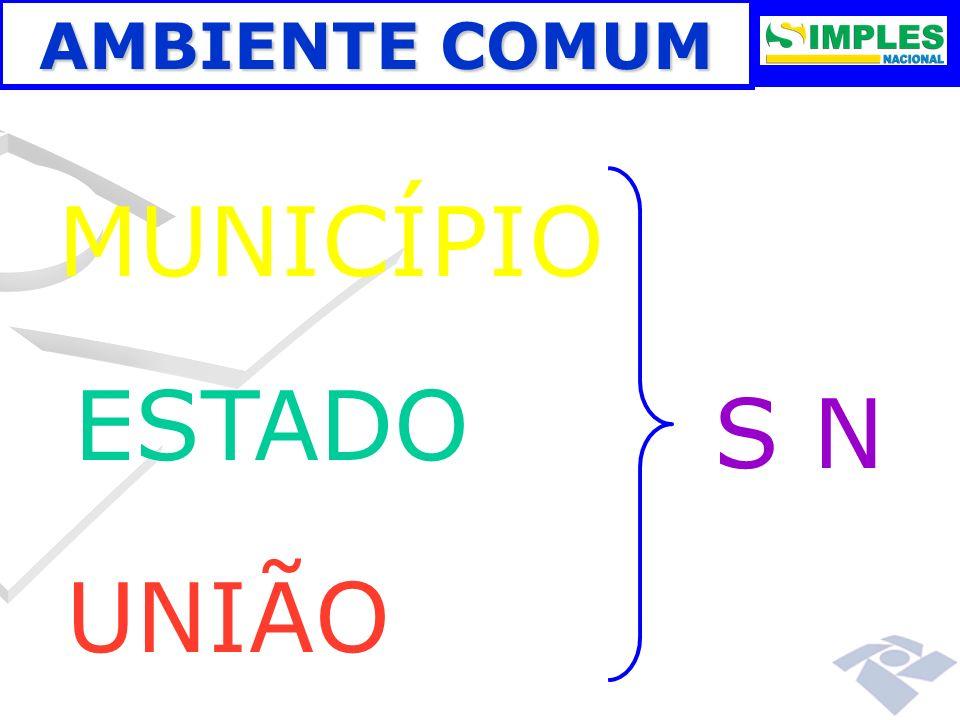 MUNICÍPIO ESTADO S N UNIÃO AMBIENTE COMUM 00:00: