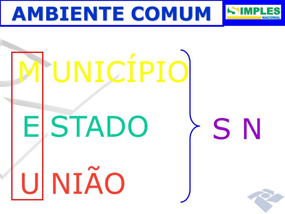 M UNICÍPIO E STADO S N U NIÃO AMBIENTE COMUM 00:00: