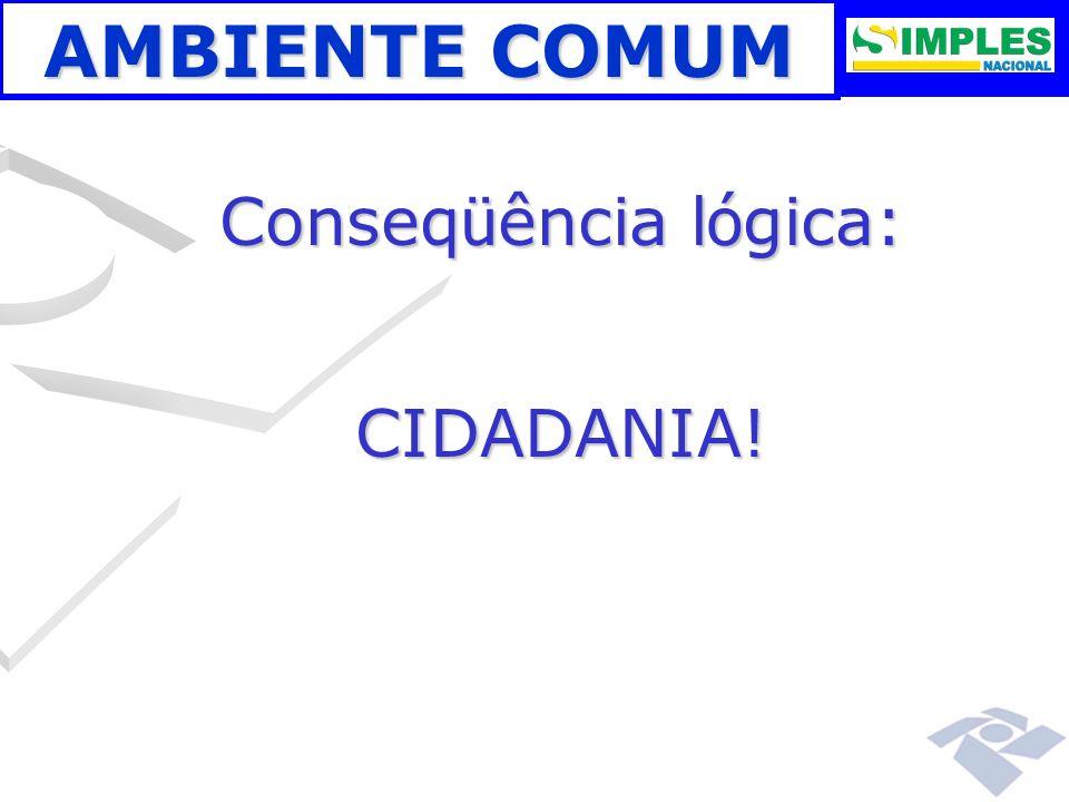 AMBIENTE COMUM Conseqüência lógica: CIDADANIA! 00:00: