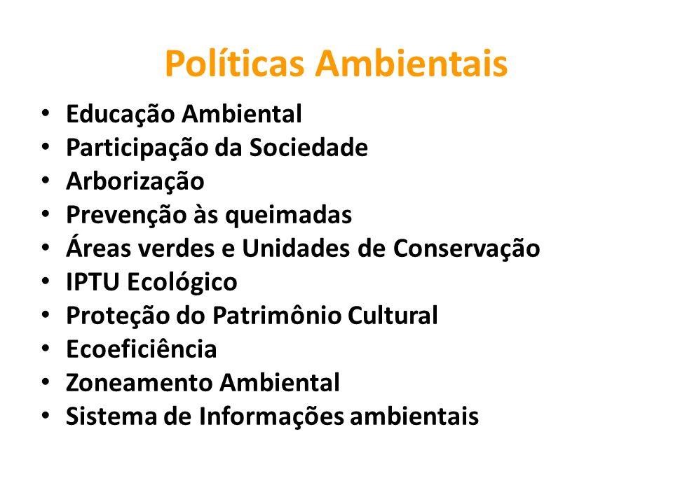 Políticas Ambientais Educação Ambiental Participação da Sociedade