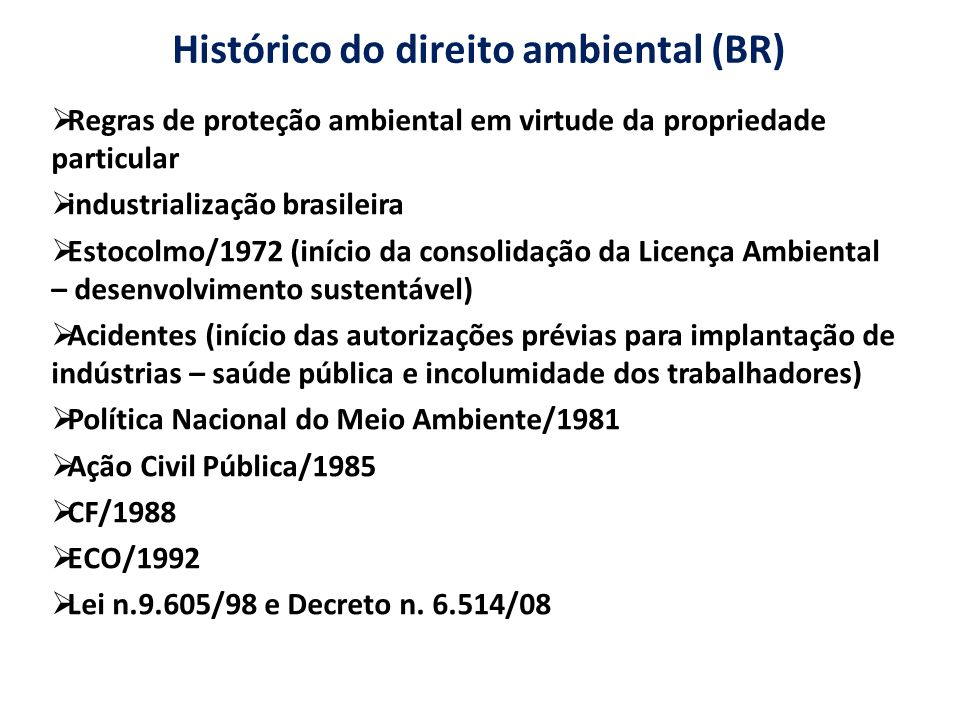 Histórico do direito ambiental (BR)