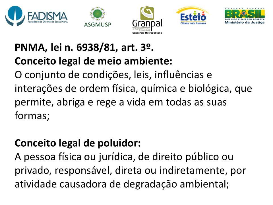 PNMA, lei n. 6938/81, art. 3º.