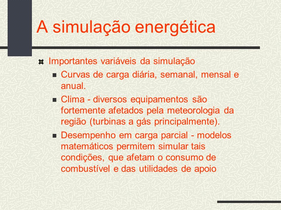 A simulação energética