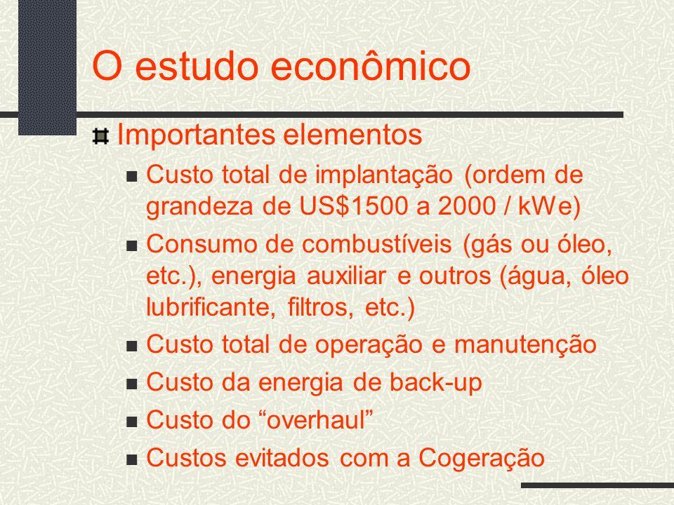 O estudo econômico Importantes elementos