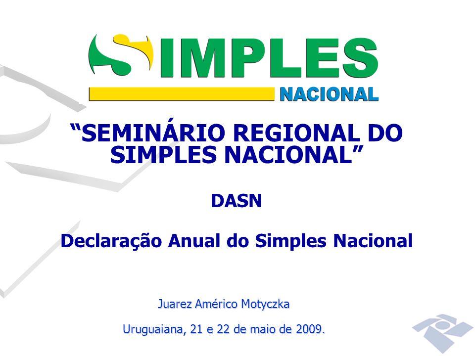 SEMINÁRIO REGIONAL DO SIMPLES NACIONAL