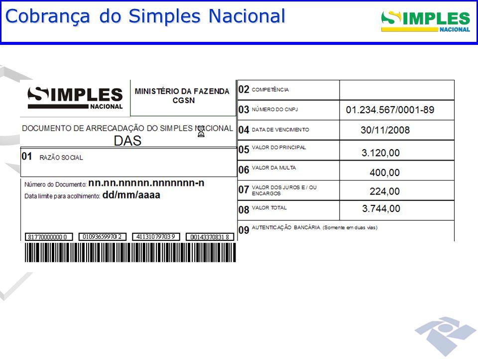 Fundamentação legal Cobrança do Simples Nacional 00:00: