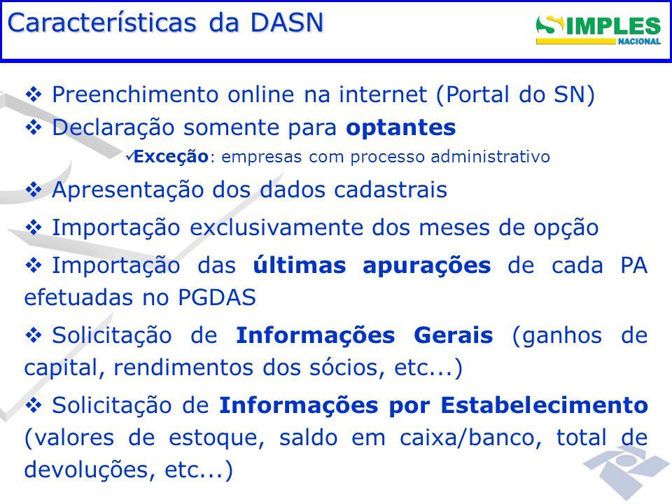 Fundamentação legal Características da DASN