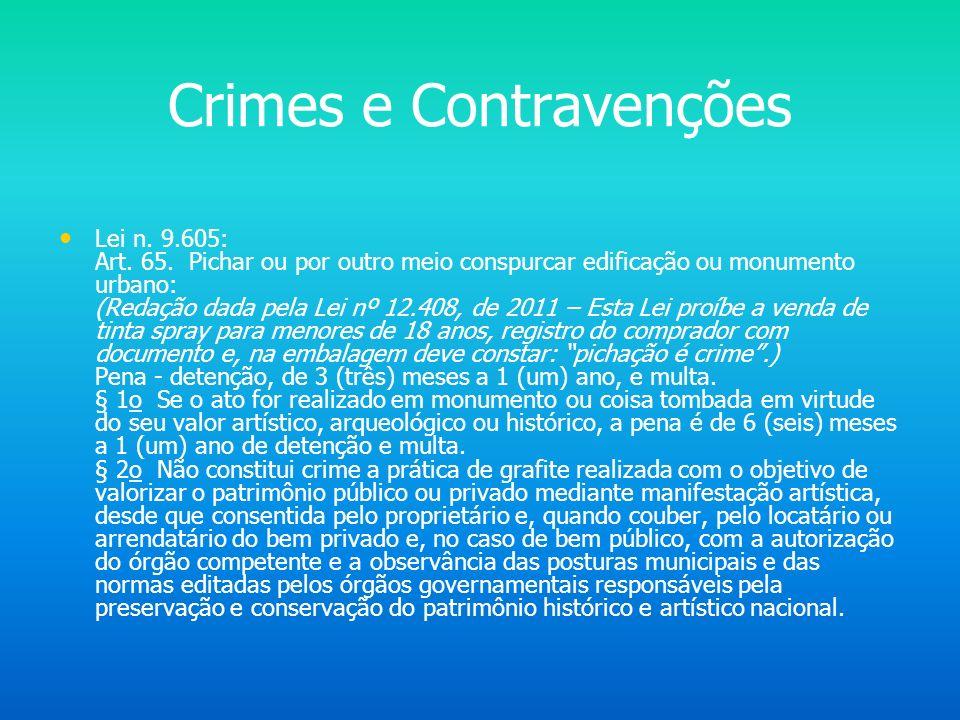 Crimes e Contravenções