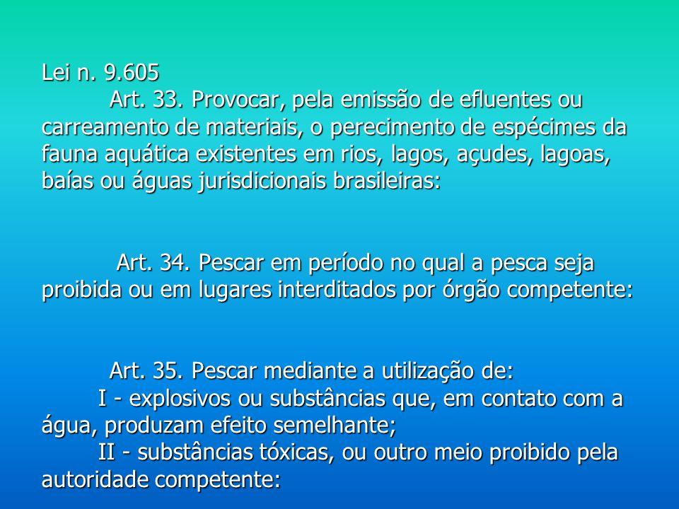 Lei n. 9.605 Art. 33.