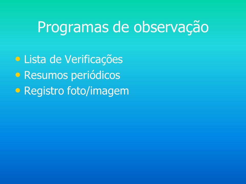 Programas de observação