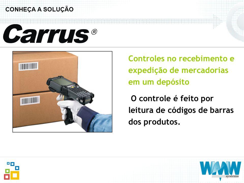 Controles no recebimento e expedição de mercadorias em um depósito