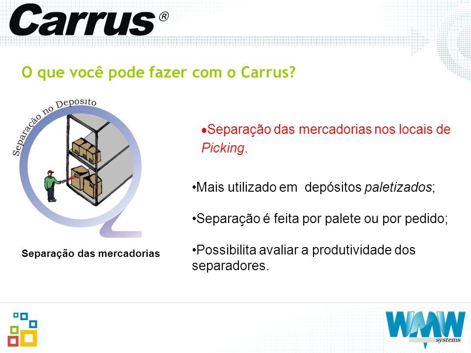 O que você pode fazer com o Carrus