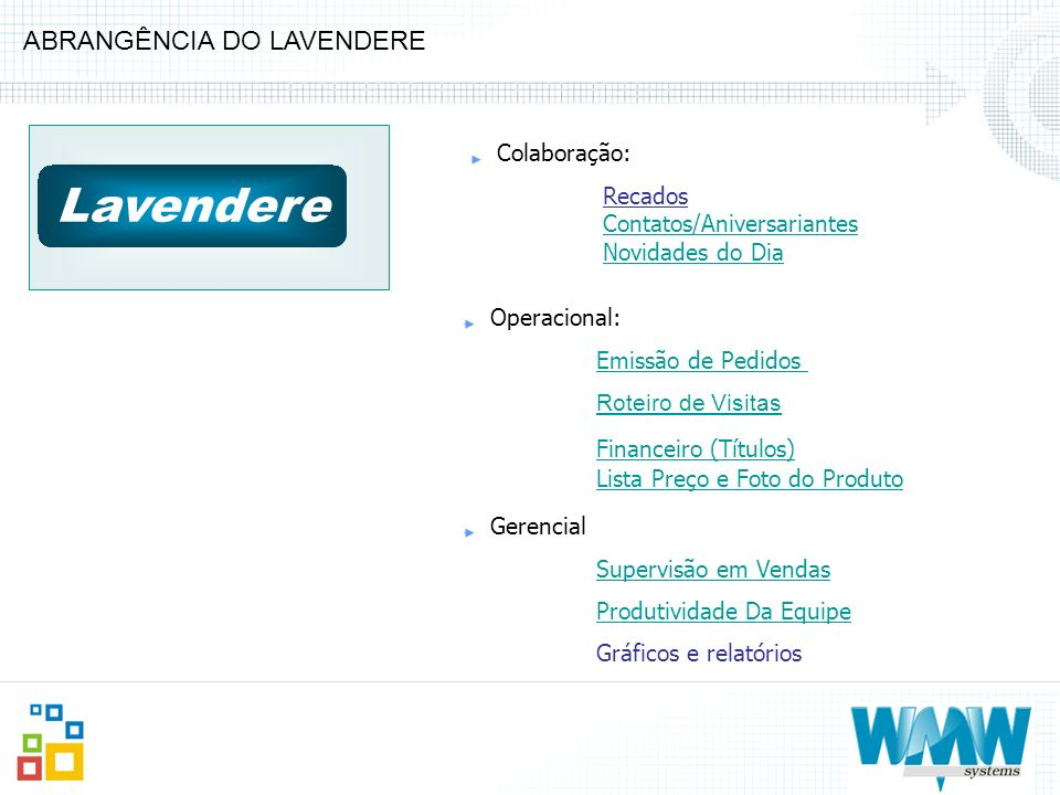 Lavendere ABRANGÊNCIA DO LAVENDERE