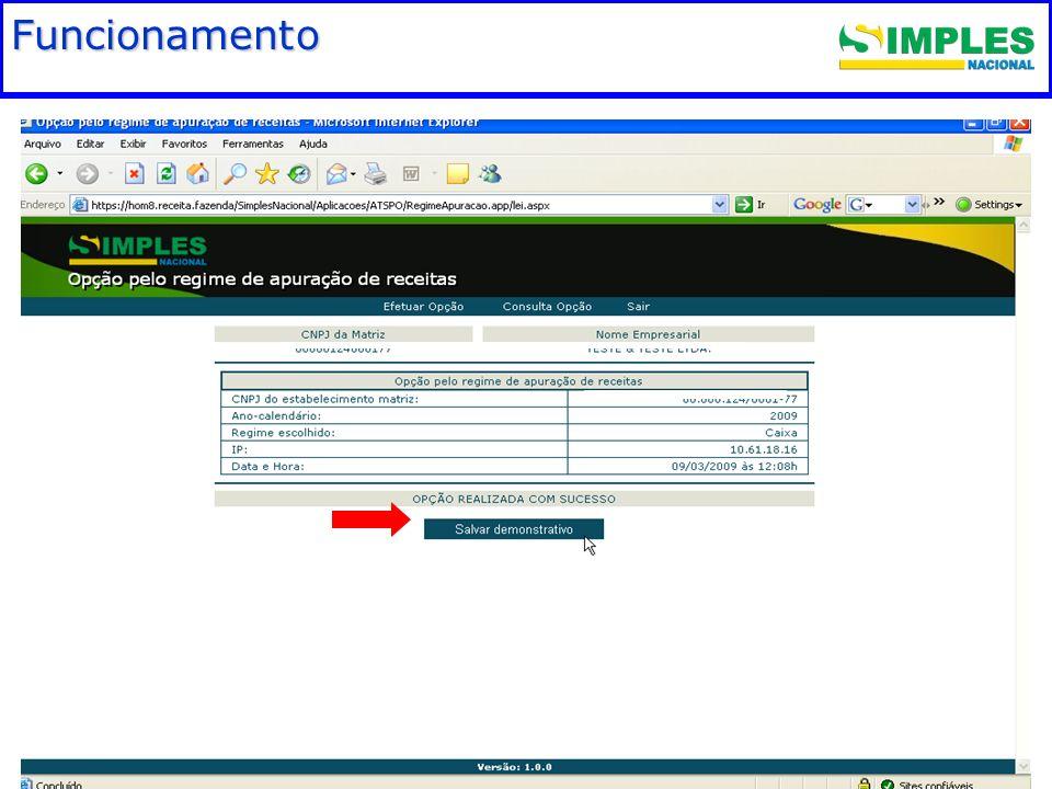 Fundamentação legal Funcionamento 00:00: