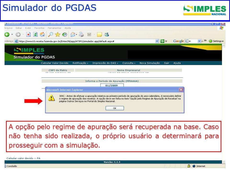 Fundamentação legal Simulador do PGDAS
