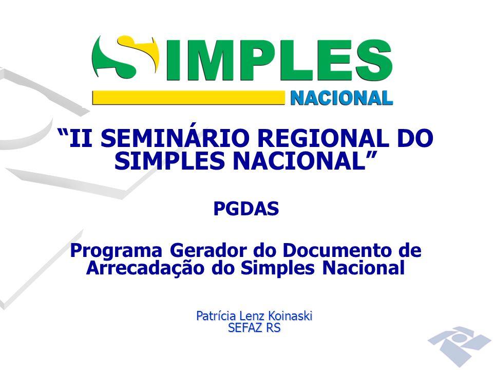 II SEMINÁRIO REGIONAL DO SIMPLES NACIONAL