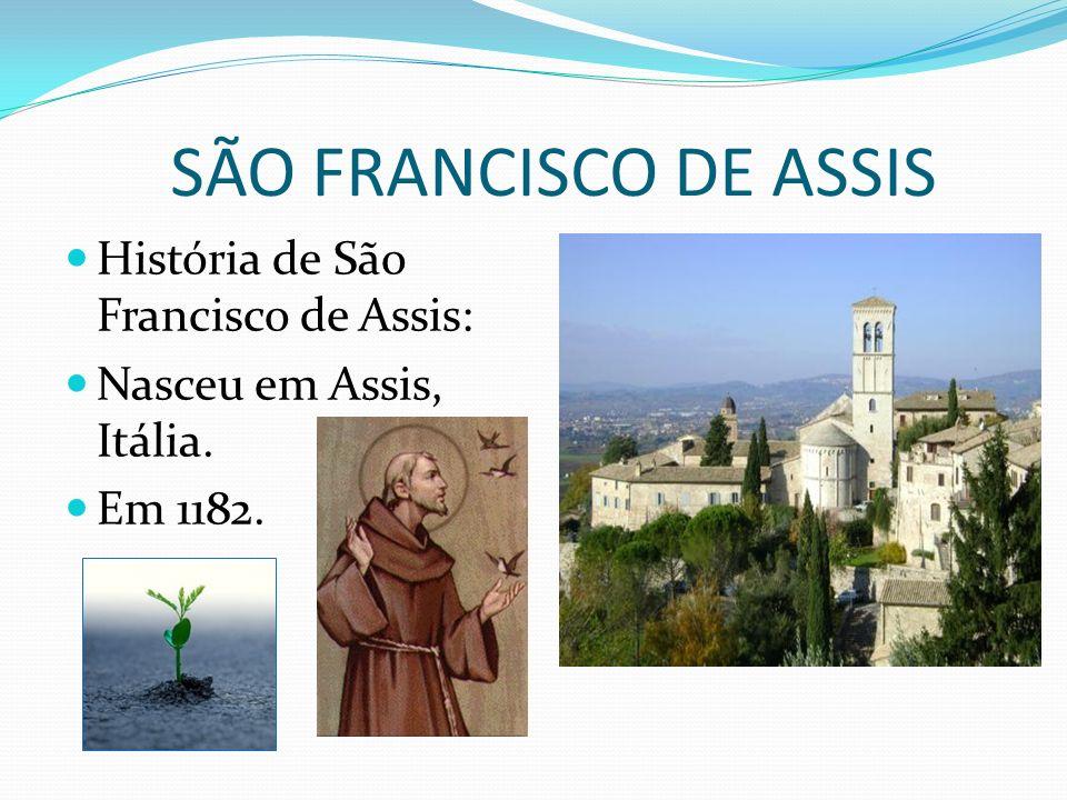 SÃO FRANCISCO DE ASSIS História de São Francisco de Assis:
