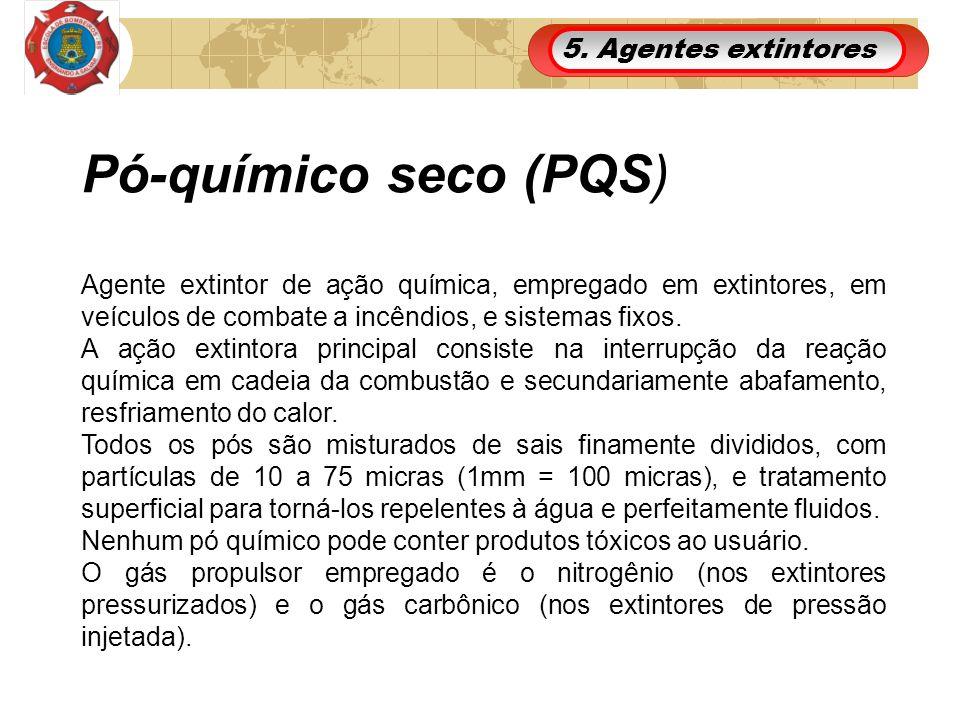Pó-químico seco (PQS) 5. Agentes extintores