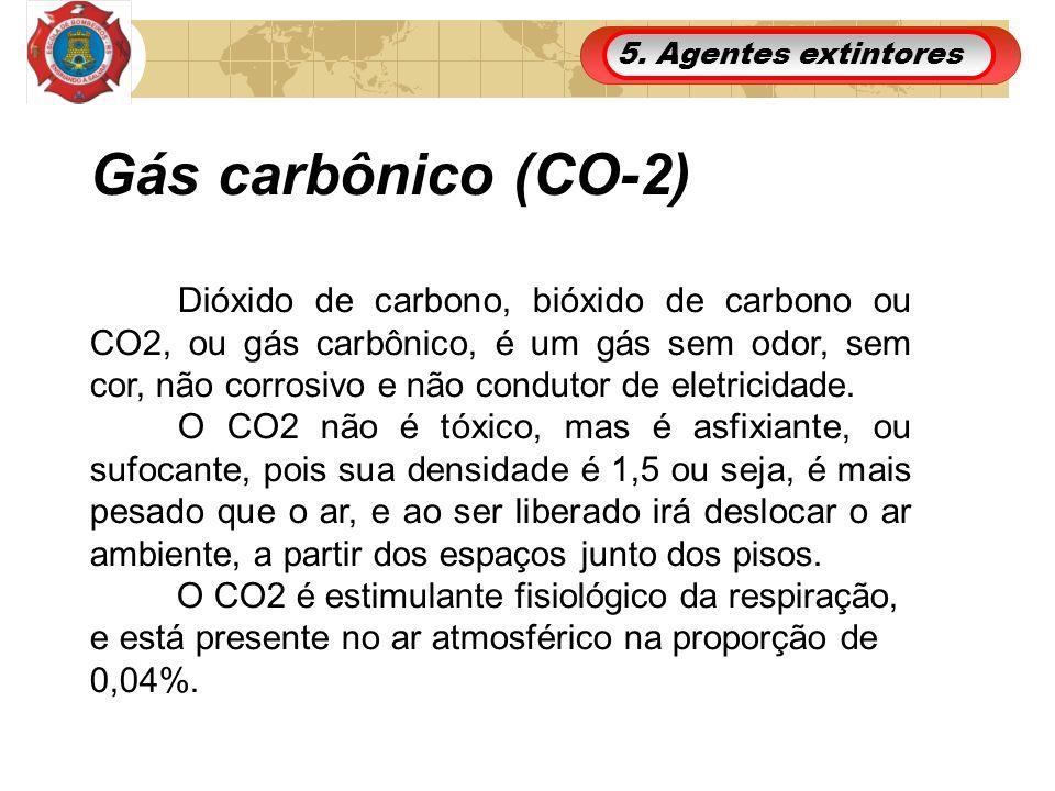 5. Agentes extintores Gás carbônico (CO-2)