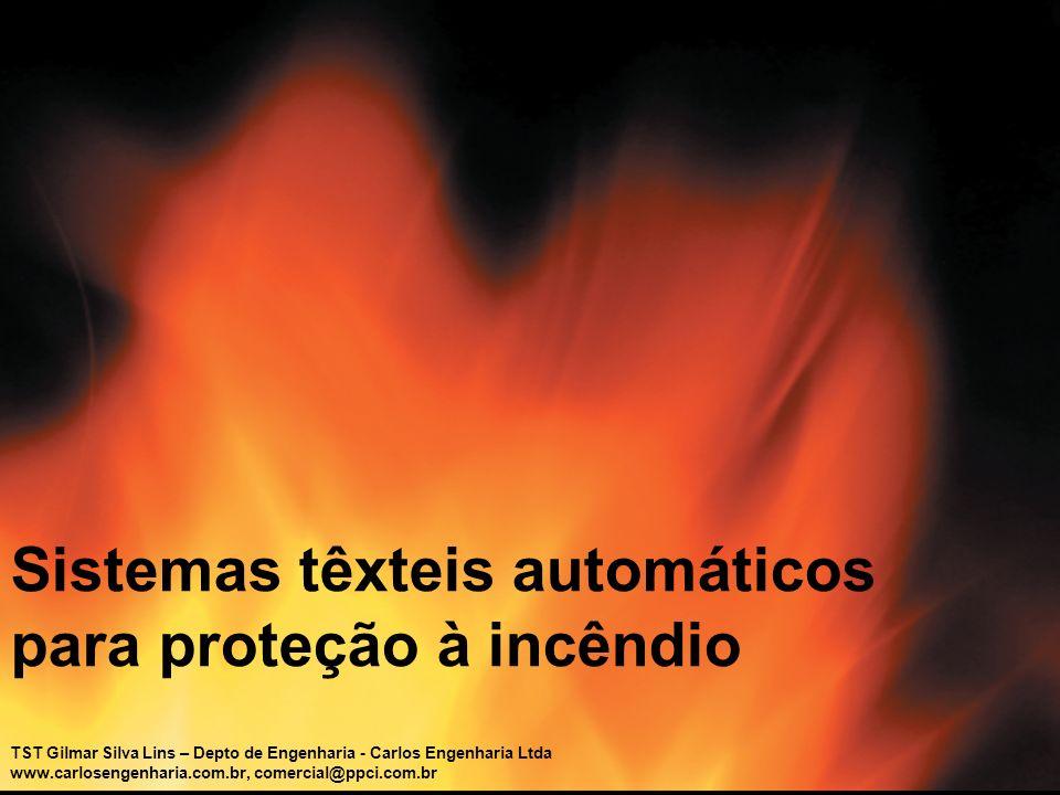 Sistemas têxteis automáticos para proteção à incêndio