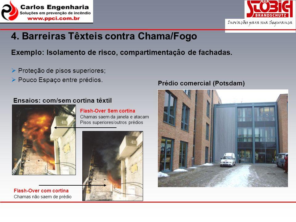 4. Barreiras Têxteis contra Chama/Fogo