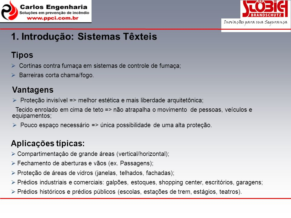 1. Introdução: Sistemas Têxteis