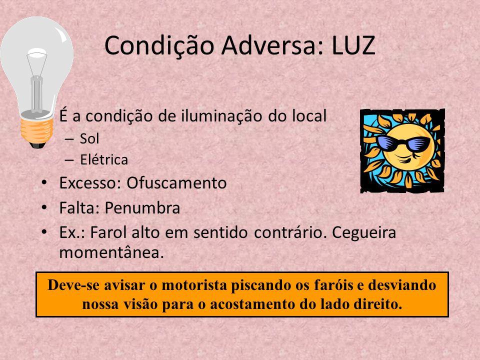 Condição Adversa: LUZ É a condição de iluminação do local