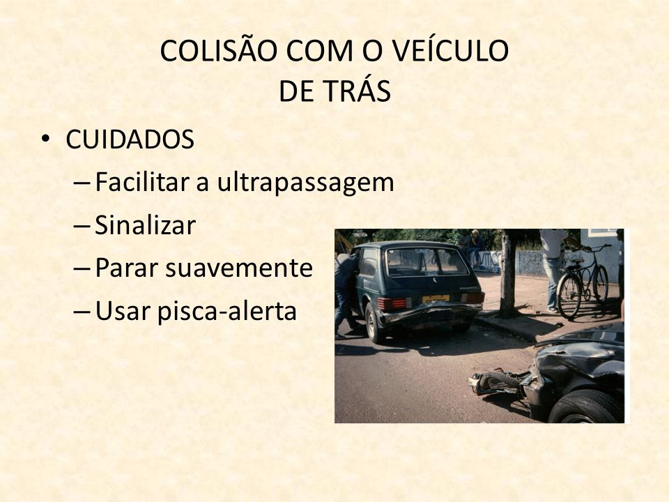 COLISÃO COM O VEÍCULO DE TRÁS