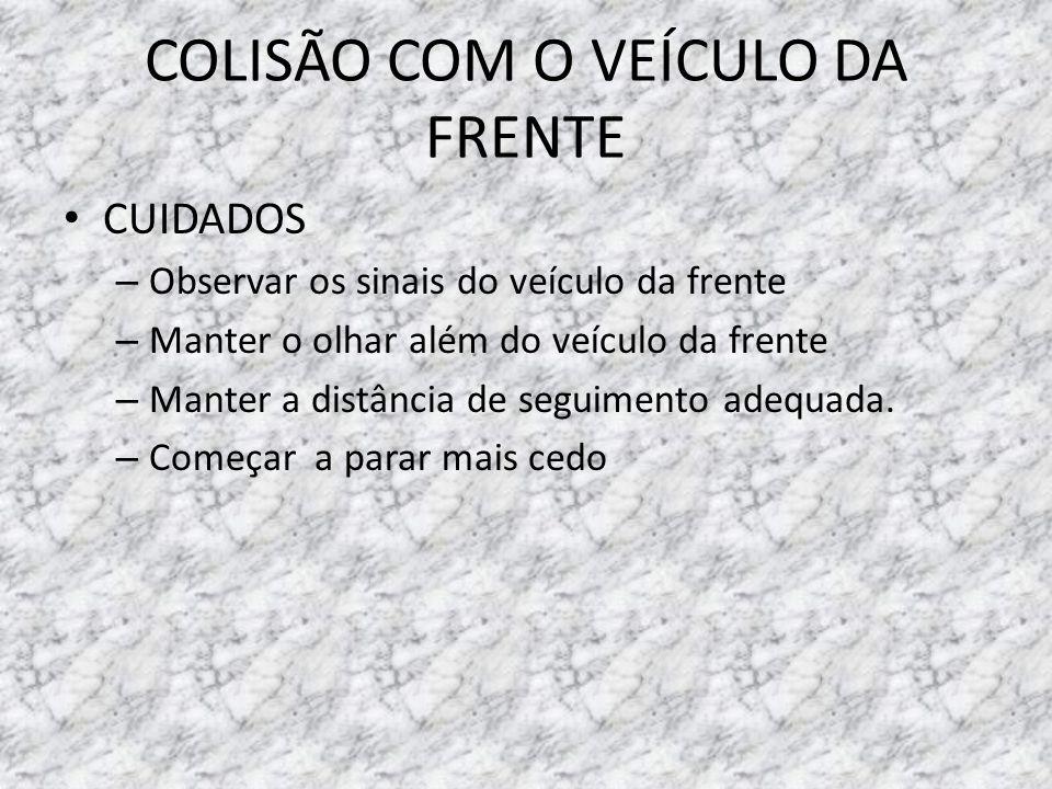 COLISÃO COM O VEÍCULO DA FRENTE