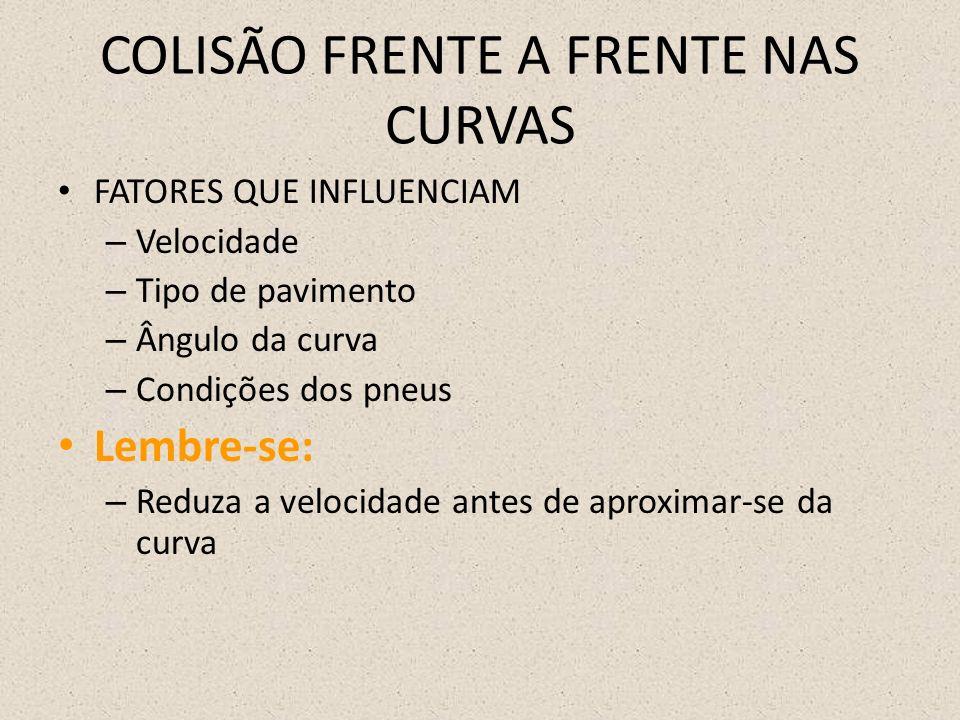 COLISÃO FRENTE A FRENTE NAS CURVAS