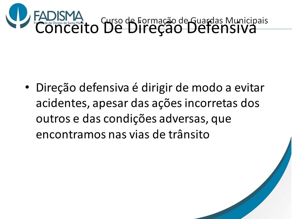Conceito De Direção Defensiva