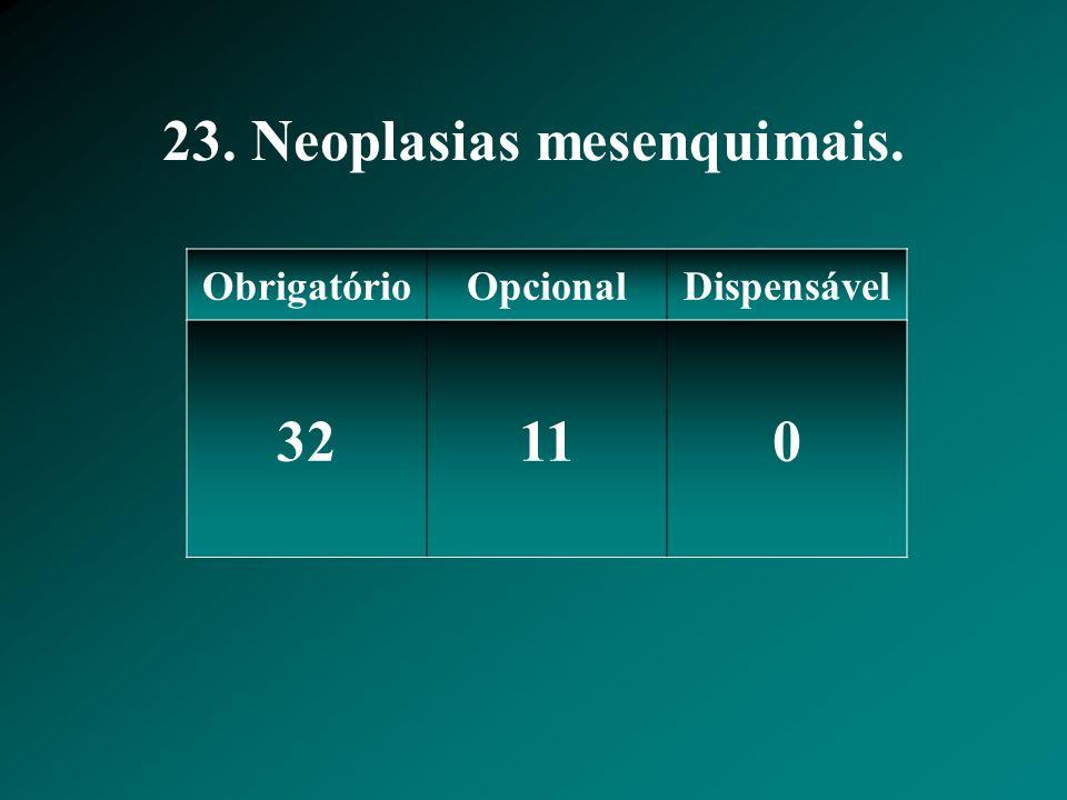 23. Neoplasias mesenquimais.