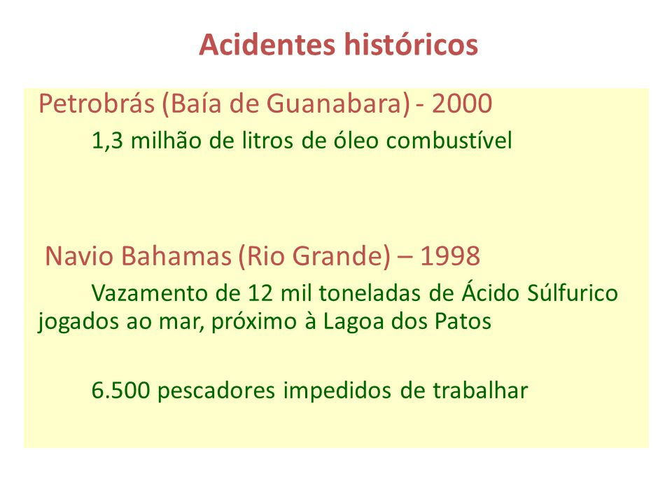 Acidentes históricos Petrobrás (Baía de Guanabara) - 2000