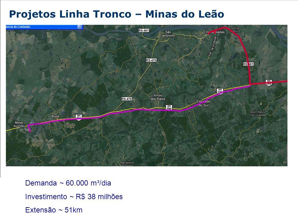 Projetos Linha Tronco – Minas do Leão