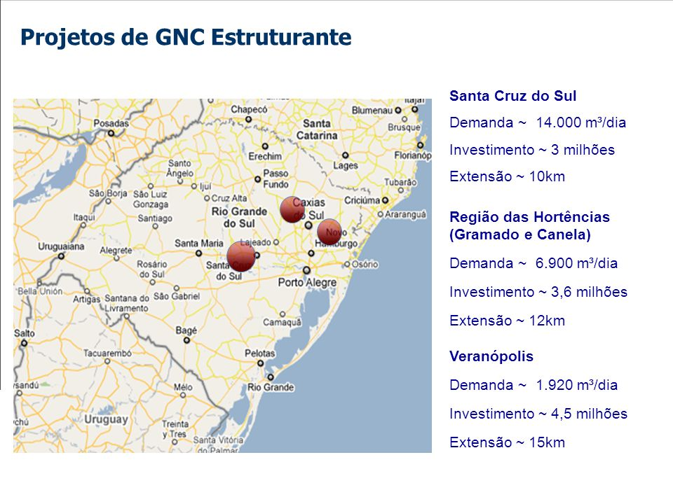 Projetos de GNC Estruturante